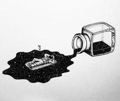 Galaxy drawings, pencil drawings, space drawings, art drawings, aesthetic d Galaxy Drawings, Space Drawings, Art Drawings Sketches, Ink Illustrations, Cool Drawings, Pencil Drawings, Illustration Art, Astronaut Illustration, Astronaut Drawing