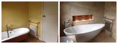 I like the alcove near the tub (candles, bubble bath, etc)