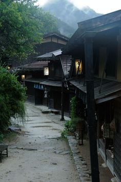 Tsumagojuku, Nagano, Japan 妻籠宿 長野. Enjoy time travel and slip back to the Edo Period. Tsumago is the first area designated as a national preservation district of important traditional structures.