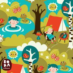 Behangstaal Camping - Bora Wallpaper -De Oude Speelkamer