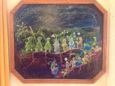 Wortelkindertjes Kleuterklas Blackboard Drawing, Chalkboard Drawings, Chalk Drawings, Chalkboard Art, Nature Journal, Blackboards, Wall Hangings, Spring, Painting