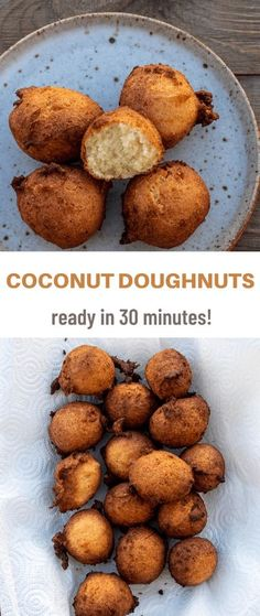 I made these coconut doughnuts yesterday. Everyone loved them! Here is how I made them:Prep: 5 minsCook: 20 minsTotal: 25 minsIngredients2 cups all-purpose flourA quarter teaspoon baking powderA… More