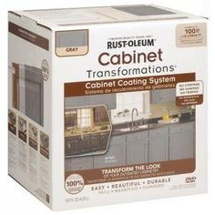 Rust-Oleum Transformations, 1 Kit Espresso Small Cabinet Transformations, 263231 at The Home Depot - Mobile New Kitchen Cabinets, Grey Cabinets, Kitchen Redo, Bathroom Cabinets, Cheap Kitchen, Cherry Cabinets, Laminate Cabinets, Laminate Furniture, Wood Laminate