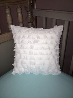 Ruffle Pillow available in 3 sizes by shilohmae on Etsy, $28.00