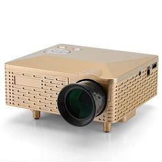 This Budget Mini Projector has a 400:1 contrast ratio, supports 1.67 million displayable colors, has a projection size of 20 to 80 inches and 5 input terminals: AV, VGA, USB, SD and HDMI.