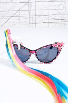 Spangled Disco Pony Sunglasses at Urban Outfitters