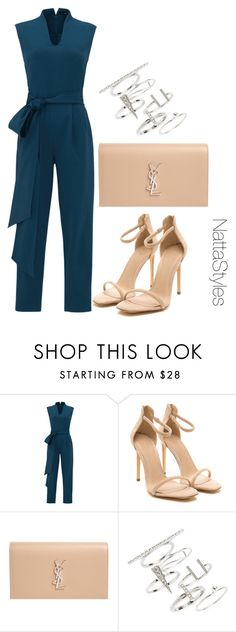 """Monday"" by nattaca on Polyvore featuring TIBI, Yves Saint Laurent and Topshop"