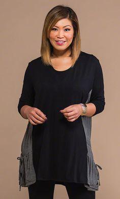 8d3ee8b5b2c Gathered Pocket Tunic   Leggings   MiB Plus Size Fashion for Women   Fall…
