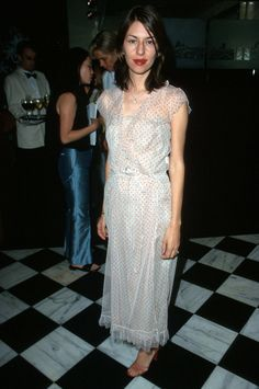 """June 21, 2000 -  Sophia Coppola at the """"Harper's Bazaar Dinner to Celebrate Who's Who in Bazaar's July Issue,"""" in Beverly Hills, California."""
