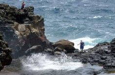 A scenic drive around the top of the West Maui mountains leads to the Nakalele Blowhole.
