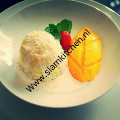 kleefrijst met kokos en Mango door Siam Kitchen ka
