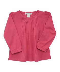 Take a look at this Pink Pintuck Top - Toddler & Girls on zulily today!