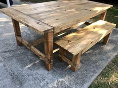 Rustic Farmhouse Table with Breadboard Ends and Bench, Walnut stained Dining Set, Wide Farmhouse Table with Trestle, Long Table Outdoor Farmhouse Table, Rustic Outdoor, Rustic Table, Deck Table, Picnic Table, Wooden Dining Tables, Dining Set, Farm Tables, Kitchen Tables