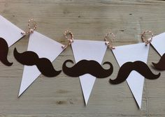 Mustache garland Baby Shower/birthday banner by papermeblossom Little Man Party, Little Man Birthday, Birthday For Him, Baby Birthday, Birthday Ideas, Moustache Party, Mustache Birthday, Baby Shower Parties, Baby Boy Shower
