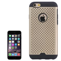 Shatter-Resistant Tough Armor Meshy Combination Case for iPhone 6(Gold)