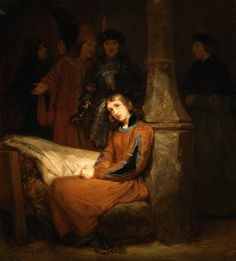 SAINT-EVRE, GillotJoan of Arc in Prison-Oil on canvas, 119 x 109 cm Private collection