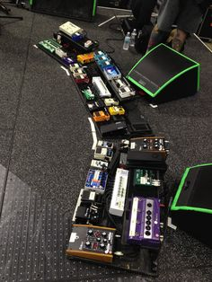 """And the winner for """"Biggest Pedalboard"""" from our Rig Rundowns goes to the Red Hot Chili Peppers' Josh Klinghoffer. Josh favors pedals with destructive tones and uses custom switchers that can take each one out of his signal chain."""