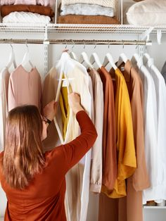 Catalogue your clothes by making an inventory and write down how many blouses, shirts, trousers or skirts and dresses, shoes etc you have. This will make the planning of your storage easier. It will tell you how much hanging space you need, and help prioritise which items get the good hangers.