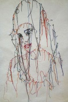 """Saatchi Art is pleased to offer the painting, """"Amy winehouse,"""" by GUACOLDA Pascal. Original Painting: Paper on Paper. Size is 0 H x 0 W x 0 in. Saatchi Online, Amy Winehouse, Painted Paper, Embroidery Art, Saatchi Art, Original Paintings, Fabric, Stitches, Jade"""