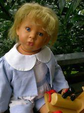 Götz Puppe Micheli 58 cm Lison von E. Lindner Künstlerpuppe + Holzzug, Gotz Doll