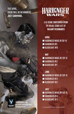 Swierczynski Readies Bloodshot For Harbinger Wars Valiant Comics, Pop Culture, Comic Books, War, Community, News, Comic Book, Comics, Communion