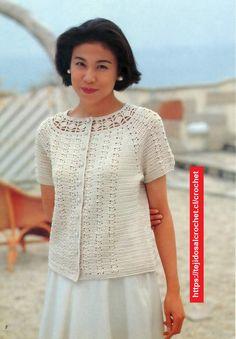 Bolero Crochet Formal ➤ Boleros Crochet ➤ Crochet Patrones ➤ Bolero Crochet, Crochet Hats, Kimono, Formal, Tops, Cardigans, Spring, Diy, Crochet Tunic