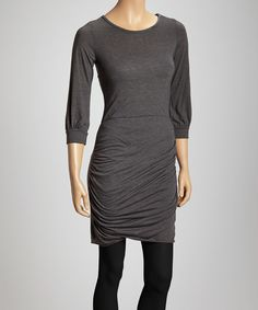 Look at this #zulilyfind! Charcoal Ruched Tunic by Casa Lee #zulilyfinds
