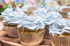 Loving the cupcakes at this Peter Rabbit Birthday!! See more party ideas and share yours at CatchMyParty.com