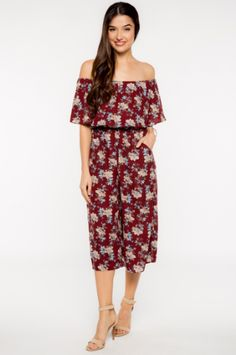 Everly Falling in Florals Jumpsuit