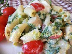 4 Těstovinový salát se špenátem