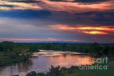 Sunset On The Payette River  :at http://robert-bales.artistwebsites.com/