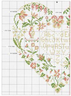 ❤heart, part 1 Cross Stitch Fruit, Cross Stitch Boards, Cross Stitch Tree, Just Cross Stitch, Cross Stitch Heart, Cross Stitch Alphabet, Cross Stitch Samplers, Cross Stitch Flowers, Cross Stitching