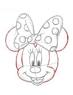 jak narysować Myszkę Minnie 14