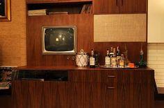 don draper's bar in his apartment