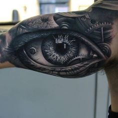 """Crazy Tattoos & Inspiriation on Instagram: """"Amazing b&g eye piece by @emiliowinter1 Go follow @backinktime for more awesome tattoo posts/blog daily! @backinktime Want a shoutout? Click the link in my bio"""""""