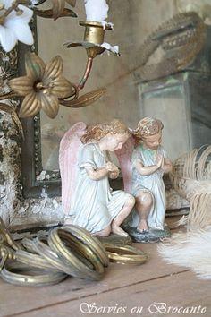 2 ángeles hermosos / 2 ángeles maravillosos | | Vajillas y Brocante