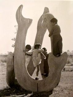 Pierre Jeaneret (Le Corbusier) sculpture in India  via