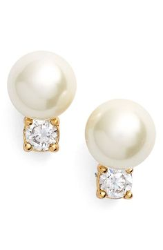 kate spade new york 'pearls of wisdon' faux pearl stud earrings available at #Nordstrom