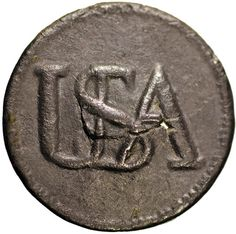 ButtonArtMuseum.com - USA Continental Army Soldier Pewter Button