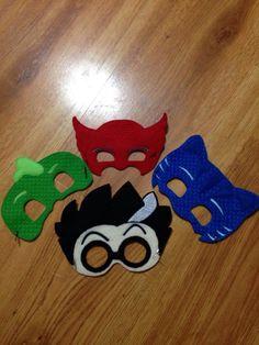 Super hero and bad guy 4 pack  PJ mask  masks  cat boy  gecko boy owl girl and mad scientist