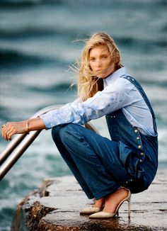 dustjacket attic: Fashion Editorial | Blue Jeans, Baby!