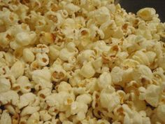 Kettle Corn in my Whirley Pop - the kids loved this today as afternoon snack.  Quick, easy and yummy!