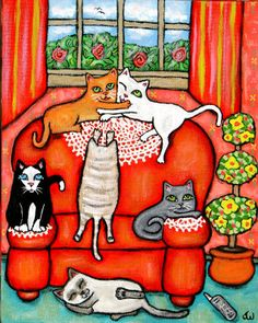 Cats On Grandma's Chair - Jamie Edwards
