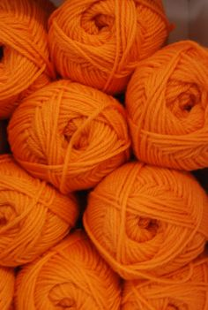 .Lovely orange yarn.               t