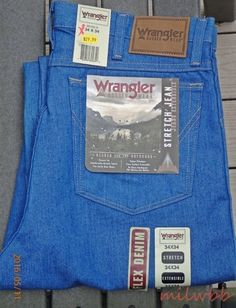 Wrangler Mens 39056LB Cowboy Cut Stretch Rugged Wear Denim Jeans See sizes NWT #Wrangler #Relaxed