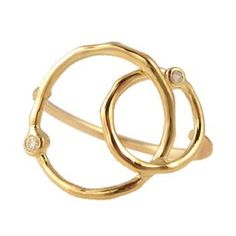 mixed circles and diamond ring...Zoe Chicco