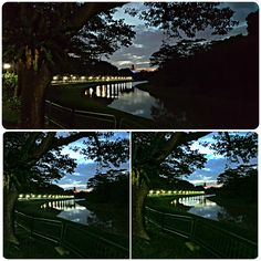 20160825_193550Collage - #Comparison of #photos taken of the #PandanRiver about 20 minutes after #sunset. No #tripod used. All #shots #handheld. Top: #SamsungNote5 - Bottom: #CanonSX50HS #LowLight