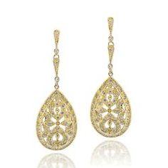 Icz Stonez 14k Goldplated Cubic Zirconia Geometric Circle Dangle Earrings