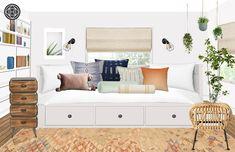 Eclectic, Bohemian Bedroom Design by Havenly Interior Designer by Victoria Eclectic Design, Eclectic Style, Interior Design, Bohemian Bedroom Design, Changing Room, Design Process, Guest Room, Master Bedroom, Design Inspiration