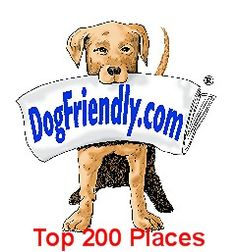 """DogFriendly.com  publishes world-wide pet travel guides for dogs of ALL sizes & breeds.  Their website was named a Forbes """"Best of the Web"""" Site."""